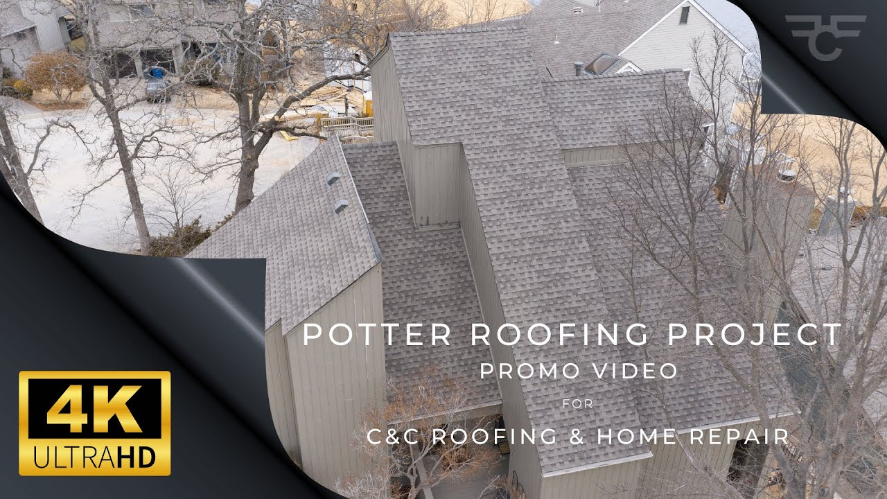 C&C Roofing & Home Repair - Potter Roofing Project South Tulsa - Promo in 4K