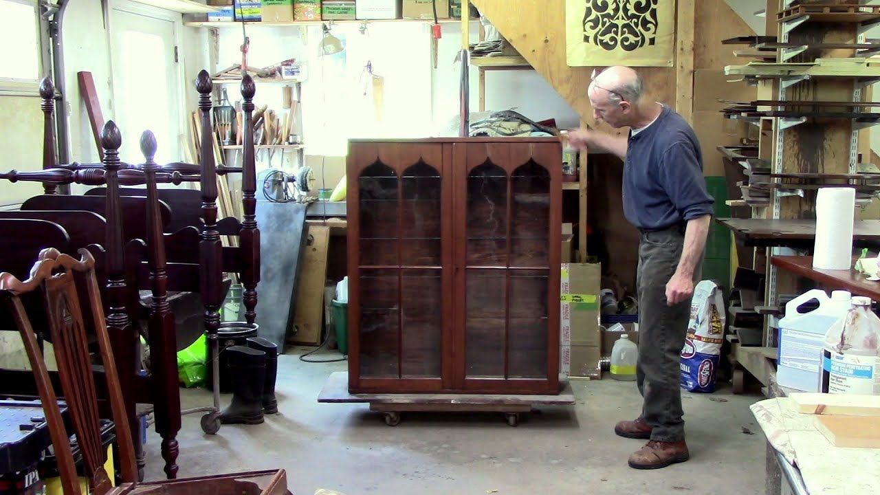 Replacing Glass for a Pine Cupboard - Thomas Johnson Antique Furniture  Restoration - Replacing Glass For A Pine Cupboard - Thomas Johnson Antique