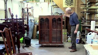 Replacing Glass for a Pine Cupboard - Thomas Johnson Antique Furniture Restoration