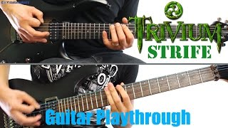 Trivium - Strife (Guitar Playthrough Cover By Guitar Junkie TV Feat FallenFreckles) HD