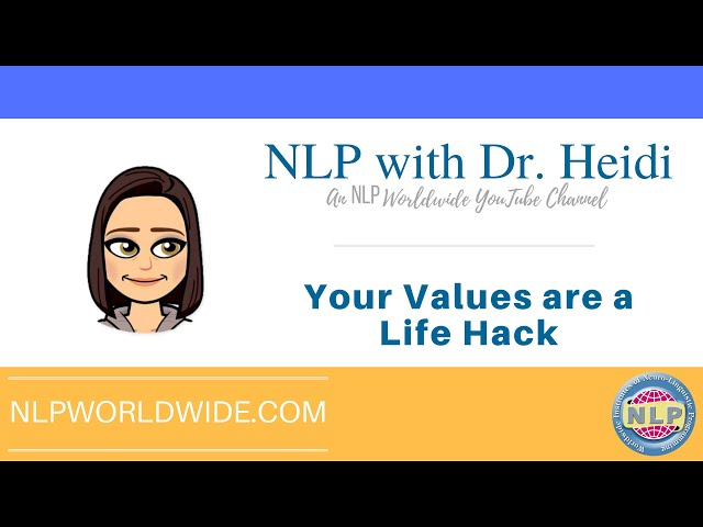 Your Values are a Life Hack