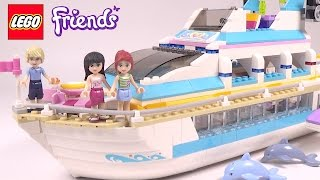 LEGO Friends Dolphin Cruiser - Playset 41015 Toy Unboxing & Speed Build