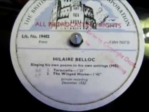 Hilaire Belloc - Singing His Own Poems - 78 rpm - Rare