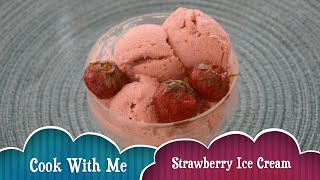 strawberry ice cream recipe   Fast and easy homemade recipe   Eggless   No ice cream maker