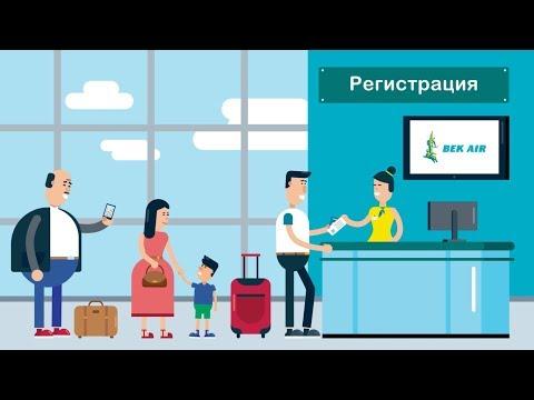 Советы по провозу багажа от авиакомпании Bek Air | Моушн дизайн видео