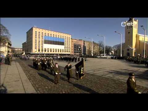 Eesti Vabariik 95  Kaitsejõudude paraad Vabaduse väljakul