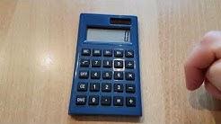 Erklärung Prozenttaste am einfachen Taschenrechner - % - Prozent
