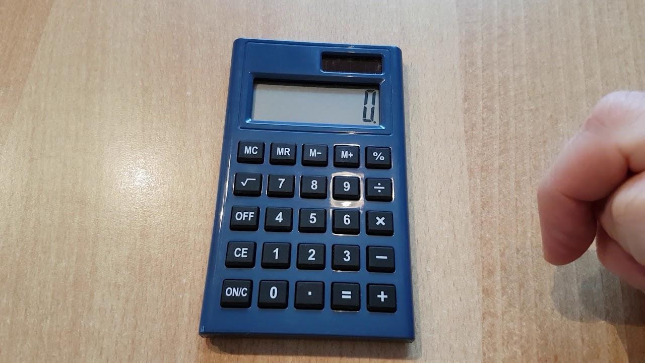einfacher taschenrechner