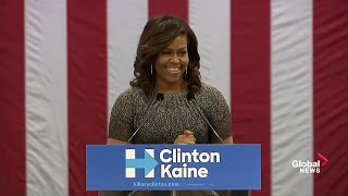 Full speech:  First Lady Michelle Obama goes after Donald Trump again