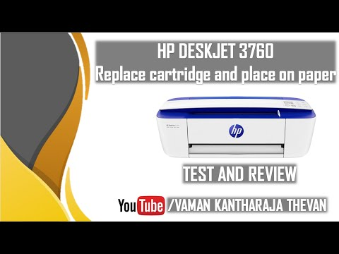 HP DESKJET 3760 replace cartridge and place on paper