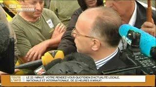 Intempéries: Cazeneuve à Lamalou-les-Bains