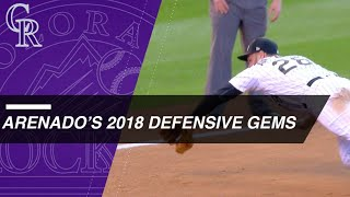 Check out some of Nolan Arenado's best defense in 2018