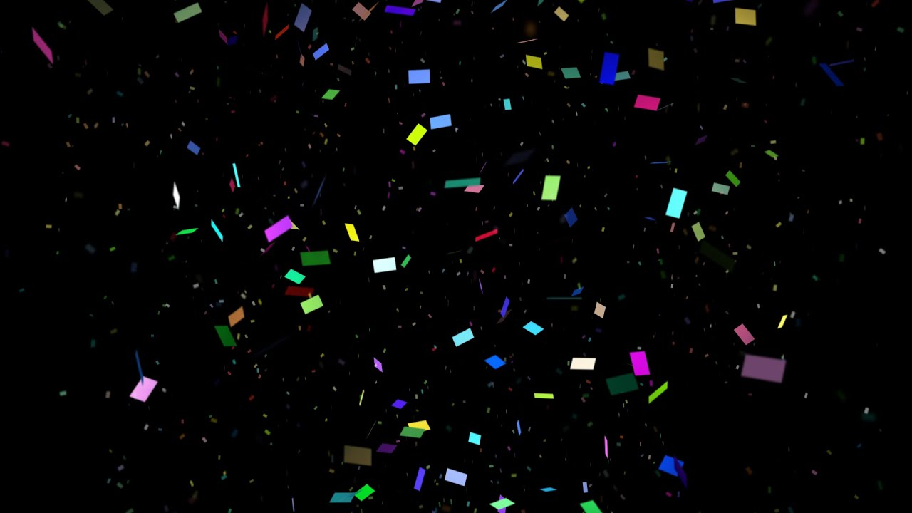 How To Get An Animated Wallpaper Windows 10 1 Confetti Cannon 1080p Full Hd Confetti With Black