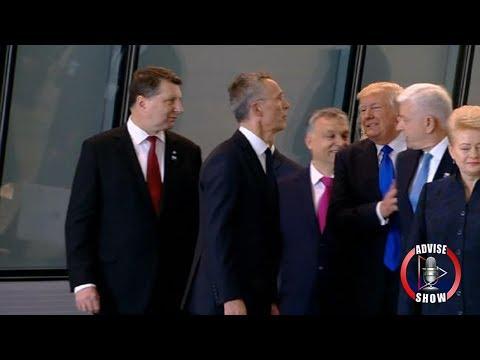 Donald Trump Shoves Montenegro's Prime Minister At NATO Summit