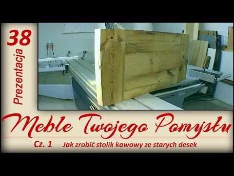 Jak zrobić stolik kawowy ze starych desek / How to make a coffee table with old boards