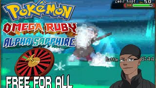 Pokemon ORAS Mono Generation Roulette Free For All Kaioken vs Slurderp vs Tristin vs Poledoo