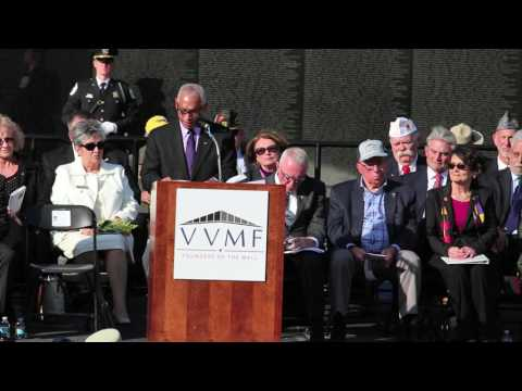 NASA administrator, a Marine veteran,  delivers Veterans Day keynote speech at Vietnam Wall