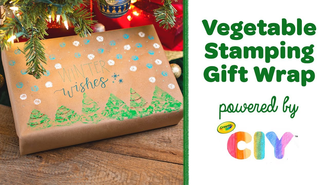 Diy vegetable stamping gift wrap crayola ciy create it yourself diy vegetable stamping gift wrap crayola ciy create it yourself week of diy gift wrapping solutioingenieria Images
