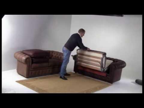 Divano Chester Classic a letto - YouTube