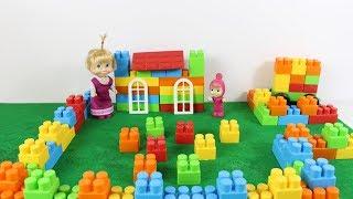 Maşa Renkli Legolar İle Ev Yapıyor Maşalar Lego Zeka Oyuncaklarıyla Oynuyor Maşa İzle