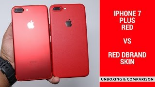 Unboxing Red Iphone 7 Plus Comparison With Red Dbrand Skin Youtube