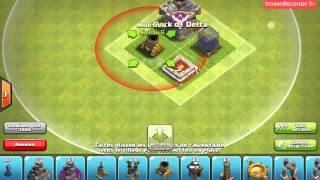 Village clash of clans hdv 9 sans arc x
