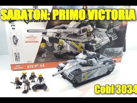 [COBI 3034] танк  SABATON PRIMO VICTORIA..Обзор
