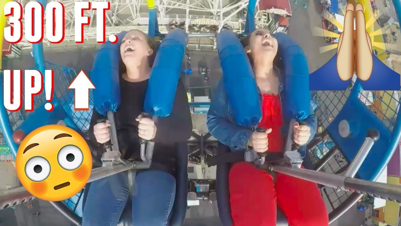 Going On The Scariest Slingshot Ride In Nyc Vlog Youtube