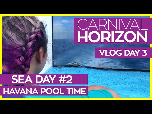 Carnival Horizon | Cappuccinos, Havana Pool & Fahrenheit 555 | Carnival Cruise Line Vlog Day 03