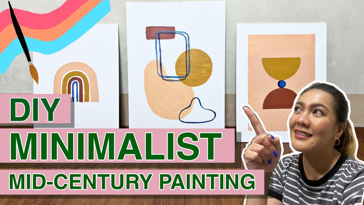 MID CENTURY MODERN ART TUTORIAL   DIY Minimalist Paintings