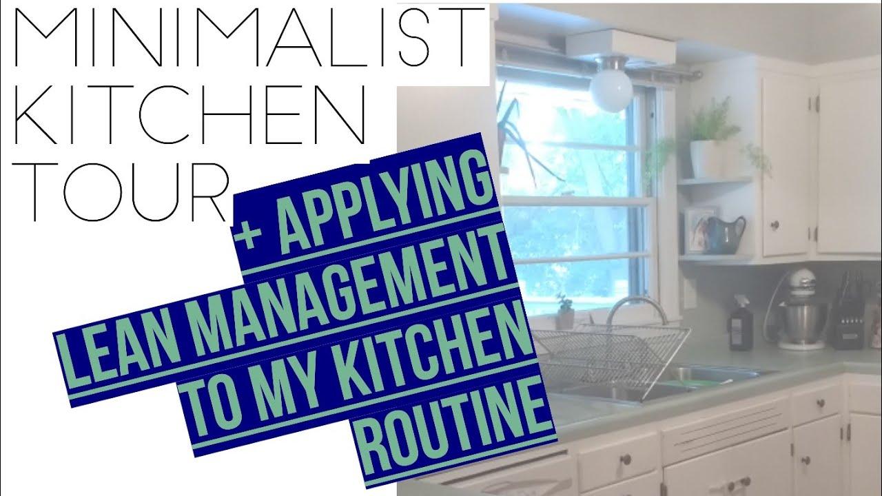 SIMPLE MINIMALIST KITCHEN TOUR || Applying Lean Management To My ...