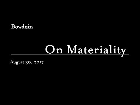 On Materiality: A Cultural Consideration of Paper and the Book