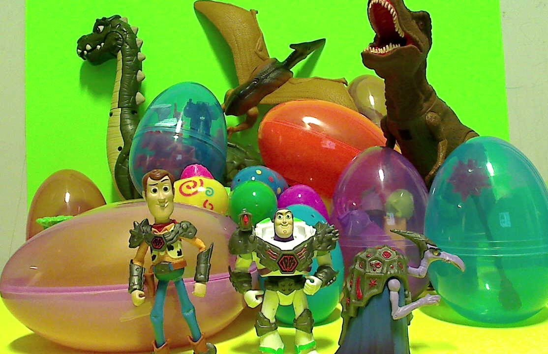 Toy story dinosaur surprise eggs 30 surprise toys in easter eggs rescue bot transformer dino - Dinosaure toy story ...