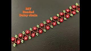 Beaded Daisy Chain.. DIY Beaded Bracelet. Daisy Chain Necklace