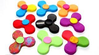 DIY How to Make Kinetic Sand Fidget Spinner Learn Colors & Coolest Customizable Fidget Spinner