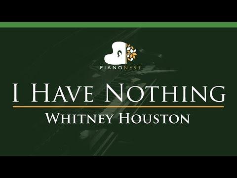 Whitney Houston - I Have Nothing - LOWER Key (Piano Karaoke / Sing Along)