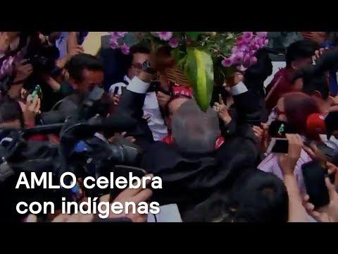 López Obrador celebra con indígenas - En Punto con Denise Maerker