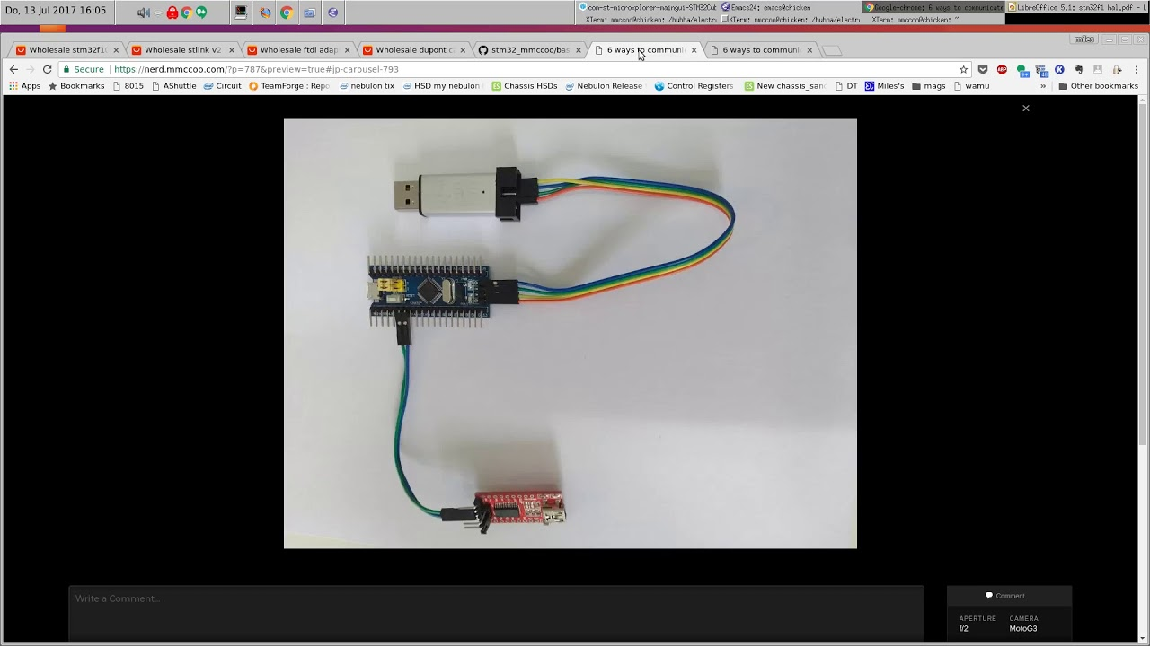 6 ways to communicate with stm32, part 2  UART and GDB – My