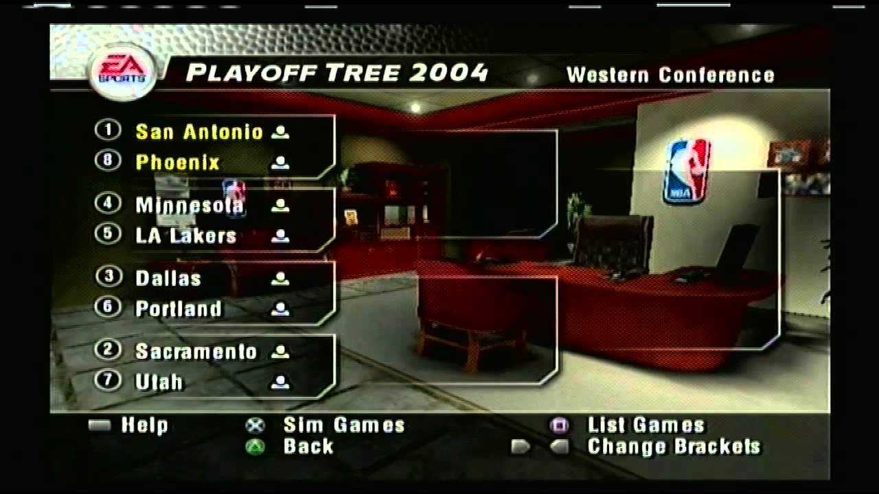 Nba Live 04 2003 Nba Playoff Brackets Youtube