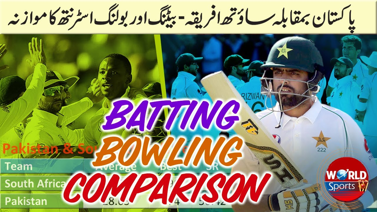 Pakistan vs South Africa batting and bowling strength comparison | Pakistan vs South Africa 2021
