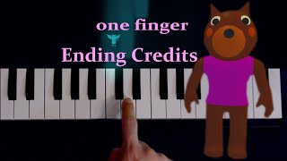 Chapter 12 Ending Credits / ONE finger piano tutorial (melodica tutorial) видео