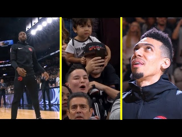 San Antonio Spurs Play Tribute to Kawhi and Danny Green- Fans BOO Kawhi and CHEER Green!!