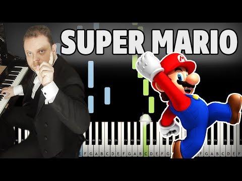 Super Mario on Piano With Sound Effects - Vinheteiro Piano Tutorial (Sheet Music + midi)