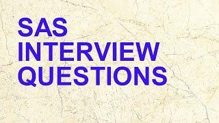 6 SAS Interview Questions in Analytics Interviews || Data Analytics
