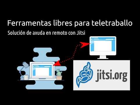 Teletraballo: Pílula sobre axuda en remoto con Jitsi