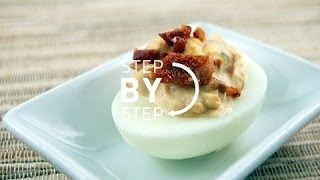 Deviled Eggs With Bacon, How To Make Deviled Eggs, Bacon Deviled Eggs Recipe