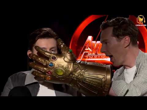 Infinity War Cast Goes Crazy with Thanos\' Glove! (Anthony Mackie, Benedict Cumberbatch, and others)