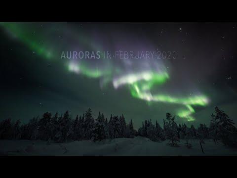 Auroras In February 2020 (4K TIMELAPSE)