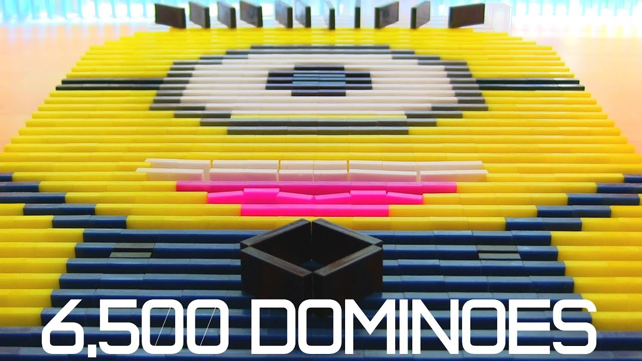 6,500 Dominoes - Despicable Me Minion?! - YouTube