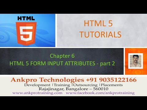 HTML 5 - Chapter 6 - HTML 5 Form Attributes (required, Pattern, Placeholder, Step, Height, Width)